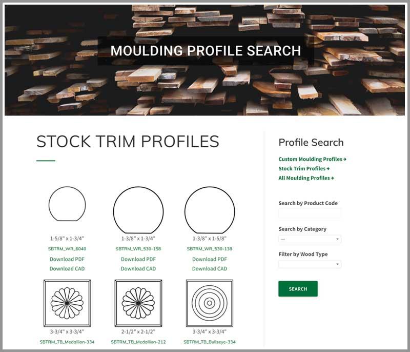 Moulding Profile Search