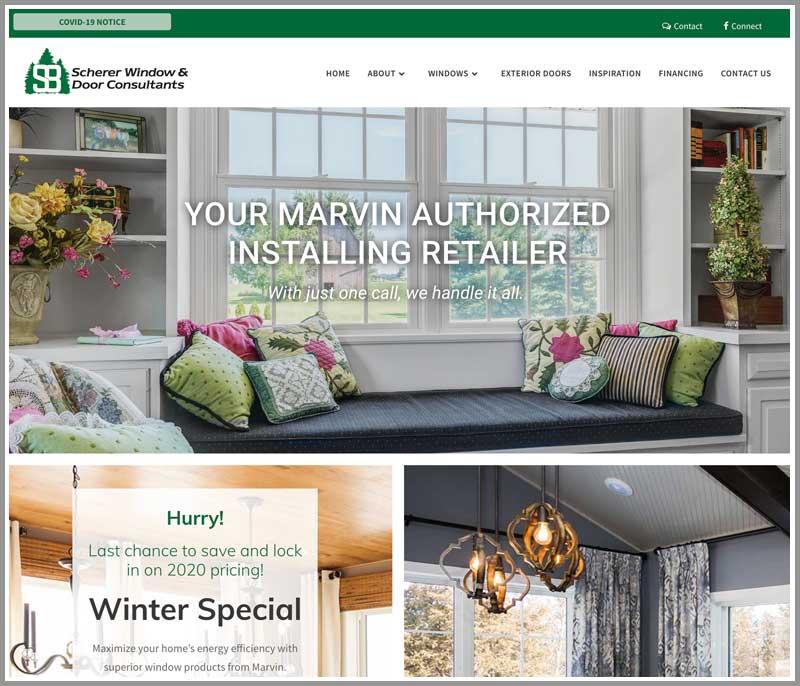 Scherer Window Consultants Website Screenshot