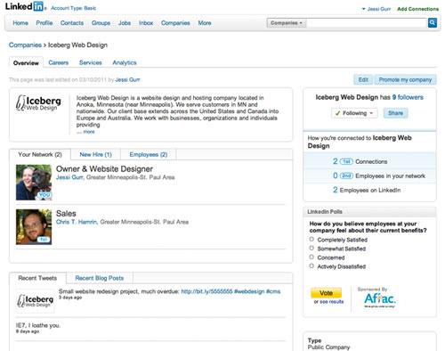 Screenshot of LinkedIn Profile