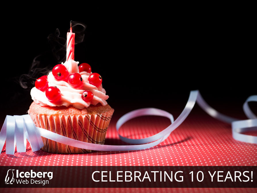 Iceberg Web Design Celebrates 10 Years in Business!