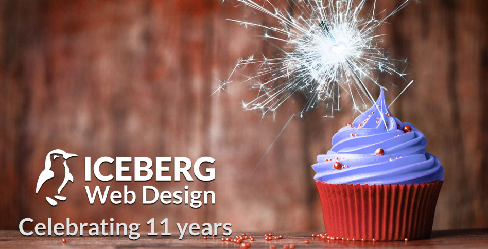 Iceberg Web Design Celebrating 11 Years