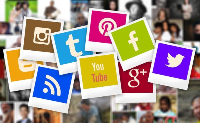 Different social media logos