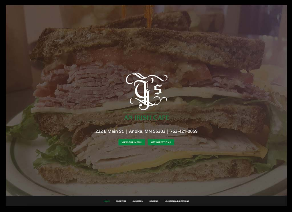 G's cafe home page