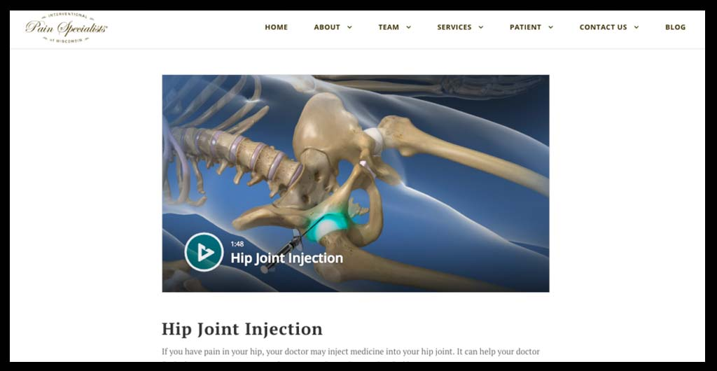 Example Of A Video Embedded On A Website.