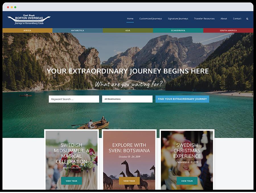 Borton Webpage Mockup