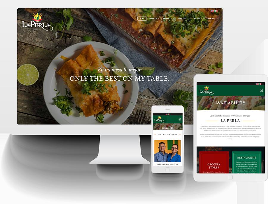 La Perla responsive website design