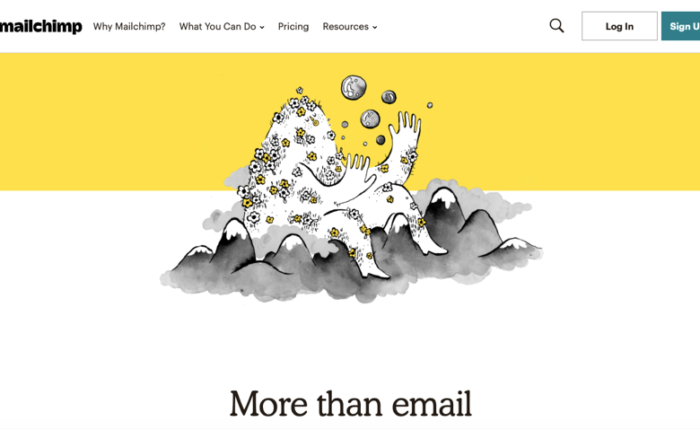 Mailchimp website