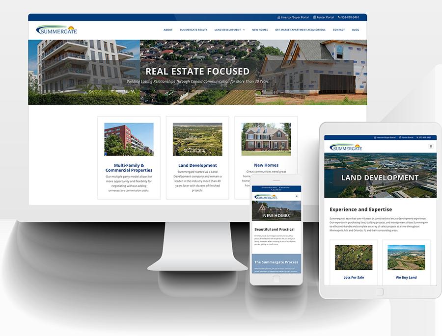 Summergate responsive website design