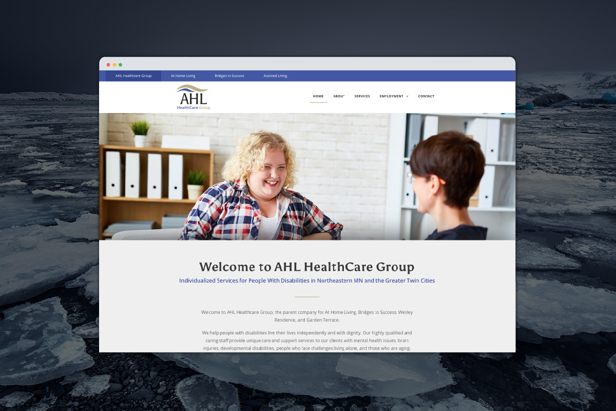 Ahl Healthcare website