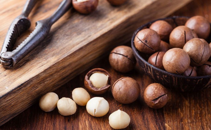 Macadamia Nuts With Nutcracker