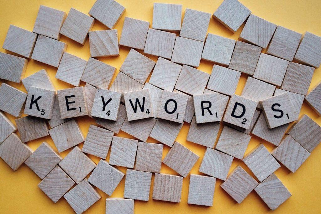 Keywords Scrabble Letters