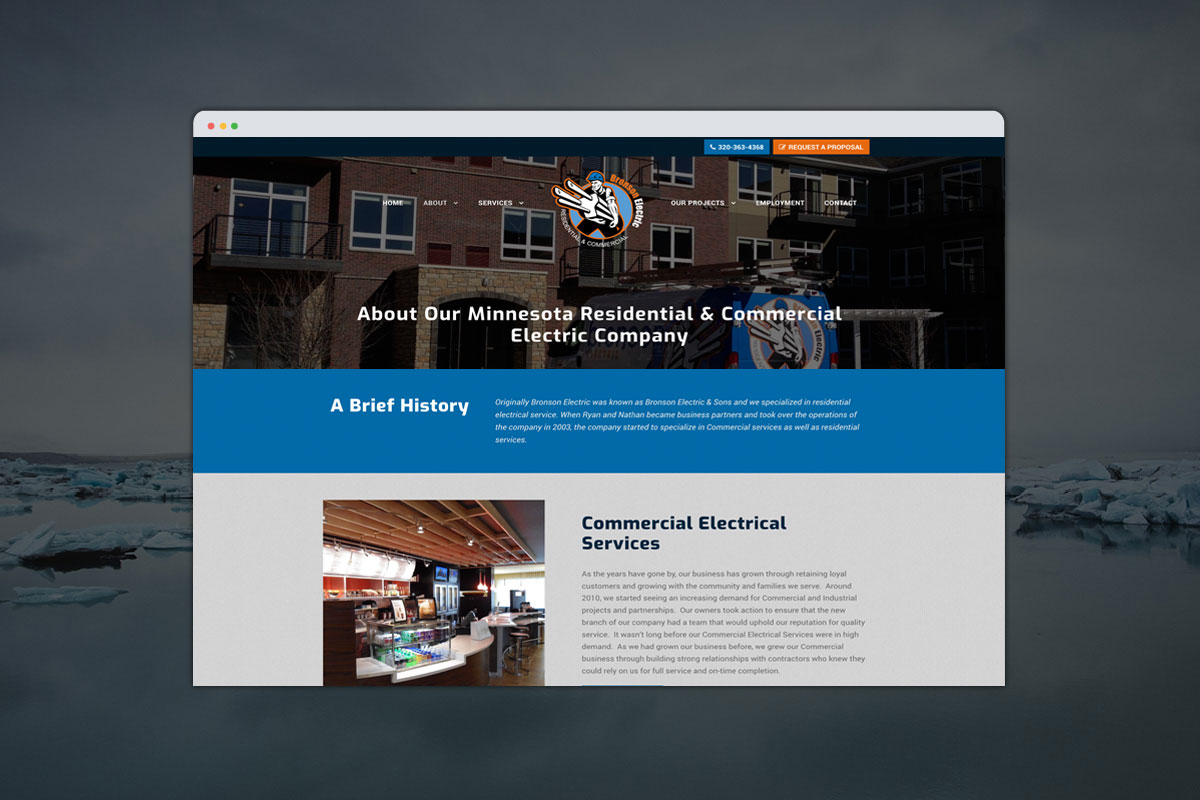 Bronson Electric - Custom Website Development