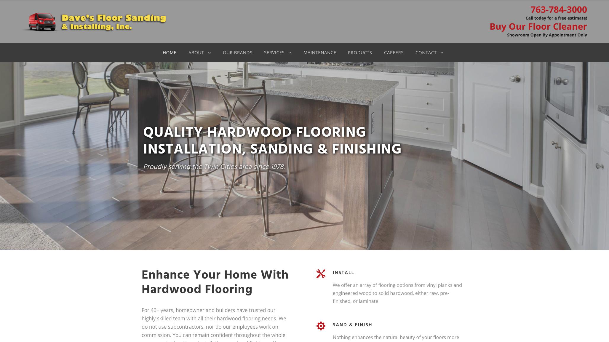 Daves Floor Homepage