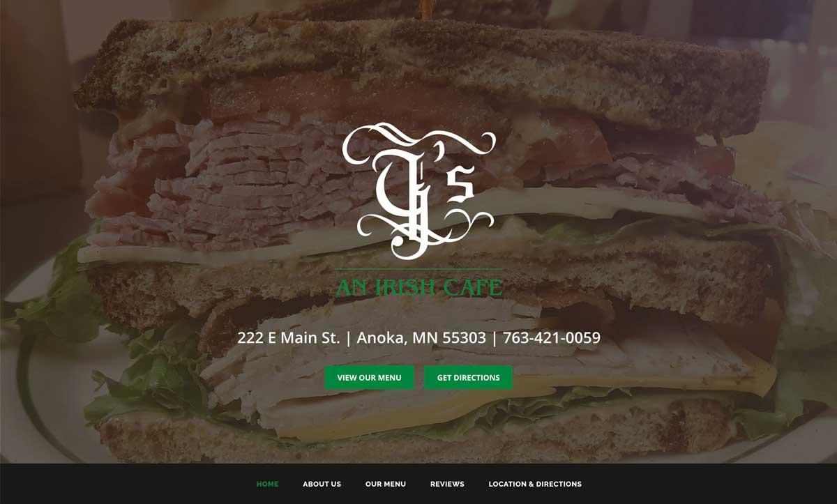 Gs Cafe Website