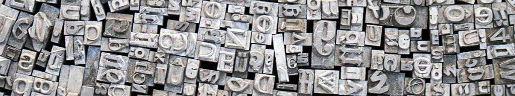 Typography Trends for Web Design in 2020 Header Image - old letter images