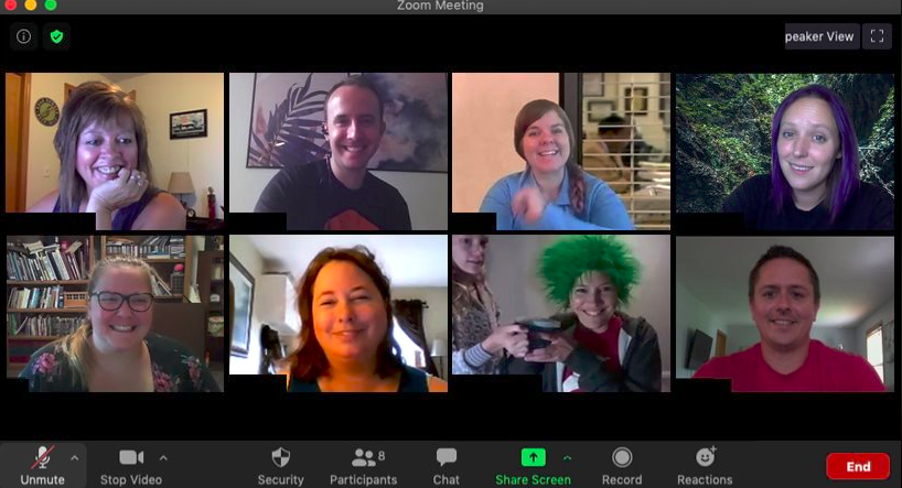 Working Remotely Iceberg Zoom Meeting
