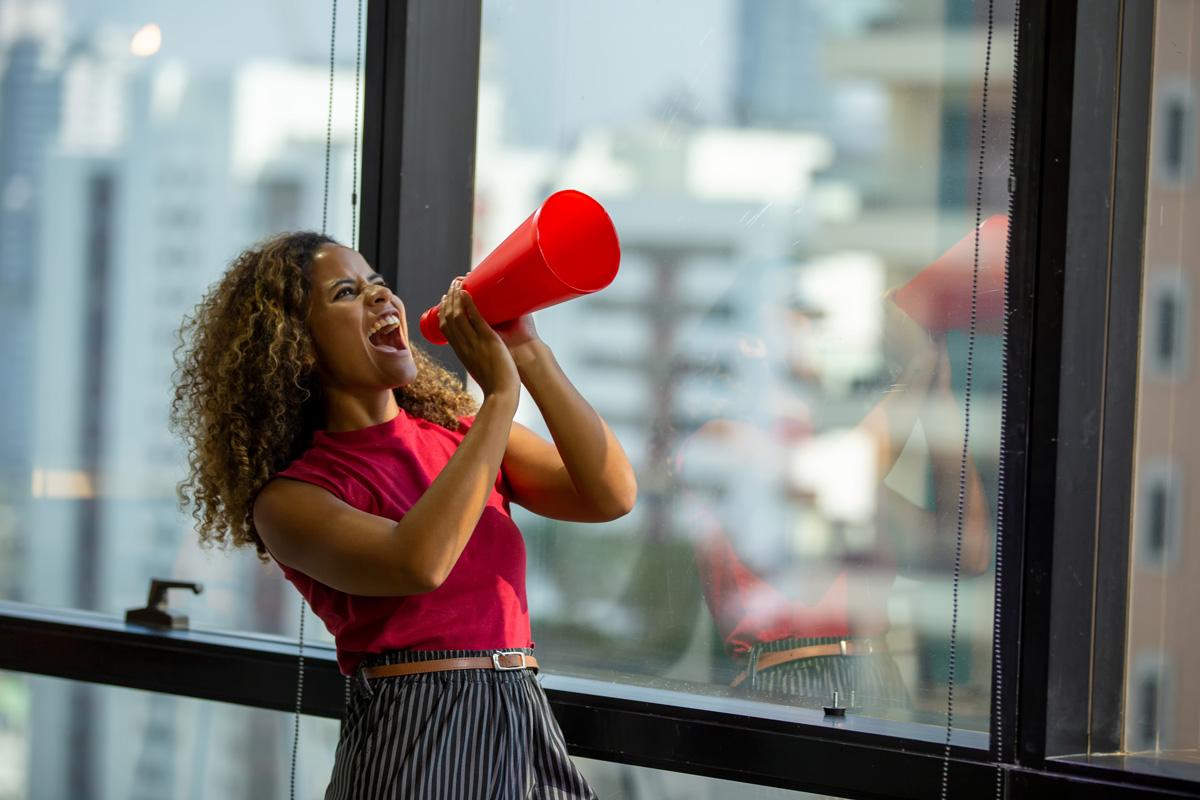 Women Shouting On Megaphone 2021 08 30 21 07 54 Utc